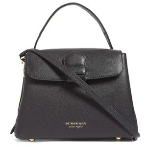 Burberry Black Camberley Leather Tote Satchel